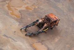 Una vecchia macchina da una miniera in Svezia Fotografia Stock Libera da Diritti