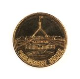 Una vecchia moneta della sede del parlamento dell'Australia Immagine Stock
