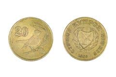 La Cipro 20 centesimi Fotografie Stock Libere da Diritti