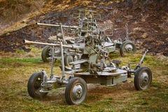 Una vecchia pistola dell'artiglieria Fotografie Stock
