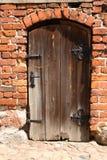 Una vecchia, porta marcia Fotografie Stock