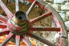 Una vecchia rotella del carrello Fotografie Stock