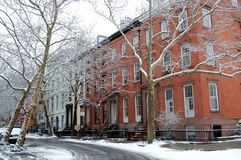Una vecchia via di le altezze di Brooklyn, New York City Immagine Stock Libera da Diritti