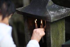 Una vela Imagenes de archivo