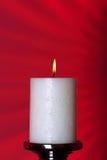 Una vela ardiente Foto de archivo
