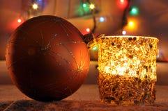 Una vela del nuevo-año fotos de archivo libres de regalías