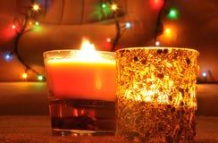 Una vela del nuevo-año foto de archivo