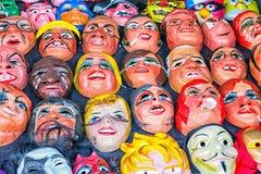 Una vendita del mercato di tienda polital e maschere di divertimento per un imminente Fotografia Stock Libera da Diritti