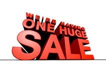 Una vendita enorme fotografie stock libere da diritti