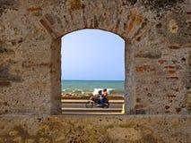 Una ventana Cartagena Fotografía de archivo libre de regalías
