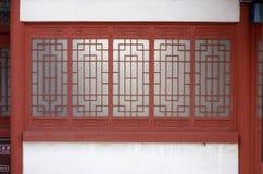 Una ventana de diseño del estilo chino Imagen de archivo
