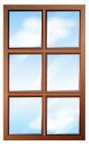 Una ventana de madera con los glasspanes libre illustration