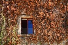 Una ventana en el edificio arruinado Fotos de archivo libres de regalías
