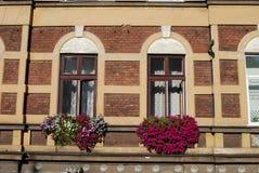 Una ventana en Kraków fotografía de archivo