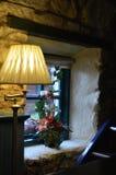 Una ventana en un restaurante irlandés imagen de archivo libre de regalías