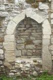Una ventana medieval emparedada en el castillo de Eckartsburg Fotos de archivo libres de regalías