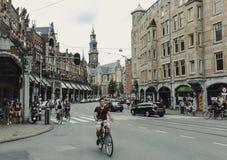 Una via a Amsterdam, Paesi Bassi Fotografia Stock