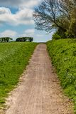 Una via attraverso i campi fotografia stock