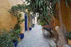 Una via in Chania, Creta Immagine Stock