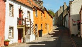 Una via in Culross. Fotografie Stock Libere da Diritti