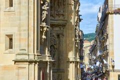 una via di 31 de Agosto in San Sebastian Old Town Gipuzkoa Fotografie Stock Libere da Diritti