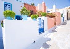 Una via greca del villaggio. Fotografia Stock