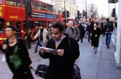Una via a Londra Fotografia Stock Libera da Diritti