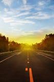 Una via nel paese Fotografie Stock