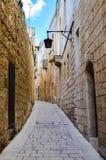 Una via stretta in Mdina, Malta Immagine Stock Libera da Diritti