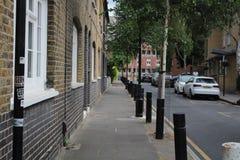 Una via tipica a Londra orientale fotografia stock libera da diritti