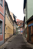 Una via vuota in Brandeburgo Fotografia Stock