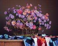 Una vida inmóvil con un ramo de otoño florece Fotografía de archivo libre de regalías