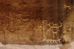Una Vida Petroglyphs photo stock