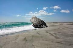 Una vieja ruina #1 de la nave: Isla de Masirah, Omán Foto de archivo libre de regalías