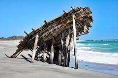 Una vieja ruina #2 de la nave: Isla de Masirah, Omán Imagenes de archivo