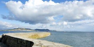 Una visión costera en el Reino Unido fotografía de archivo libre de regalías