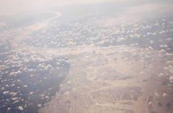 Una visión desde el aeroplano Imagen de archivo libre de regalías