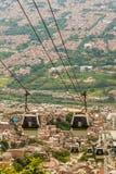 Una visión desde el alto para arriba sobre Medellin Colombia fotos de archivo