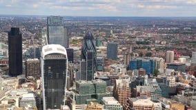 Una visión desde el casco sobre Londres almacen de video
