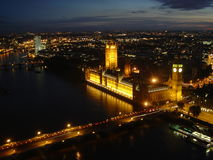 Una visión desde el ojo de Londres Fotos de archivo libres de regalías