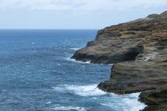 Una visión desde el puesto de observación de Lanai en Honolulu Oahu Hawaii foto de archivo libre de regalías