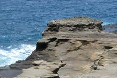 Una visión desde el puesto de observación de Lanai en Honolulu Oahu Hawaii fotografía de archivo libre de regalías