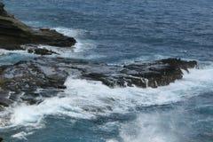 Una visión desde el puesto de observación de Lanai en Honolulu Oahu Hawaii imágenes de archivo libres de regalías