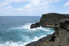 Una visión desde el puesto de observación de Lanai en Honolulu Oahu Hawaii foto de archivo