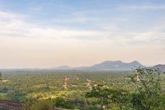 Una visión desde el templo de la cueva de Dambulla, Sri Lanka foto de archivo