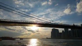 Una visión desde el transbordador de East River de Nueva York Fotos de archivo libres de regalías