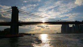 Una visión desde el transbordador de East River de Nueva York Imágenes de archivo libres de regalías