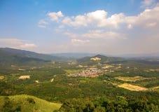 Una visión desde la colina de Broga, Semenyih foto de archivo