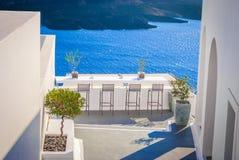 Una visión desde la isla de Santorini en Grecia imagen de archivo libre de regalías