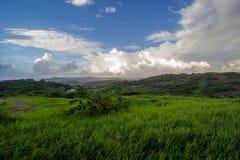 Una visión desde la plantación de Morgan Lewis en St Andrew, Barbados imagen de archivo